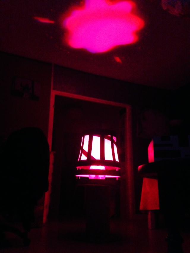 Lampe de salon multicolore