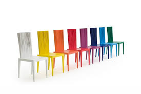 Chaise multicolore