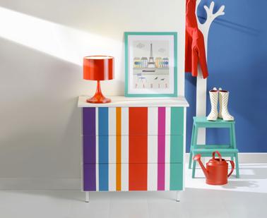 peindre-un-meuble-avec-rayures-peinture